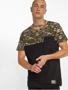 Sublevel T-Shirt Camo schwarz