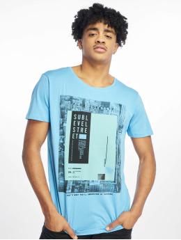 Sublevel T-shirts Flow Identity blå