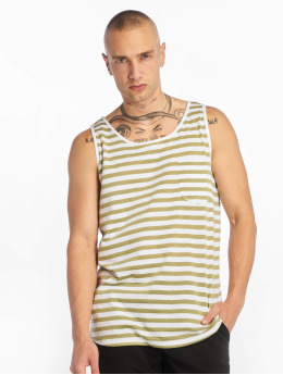 Sublevel Tank Tops Stripe grün