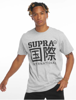 Supra T-Shirt International Characters grau