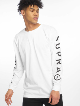 Supra T-Shirt manches longues All Caps blanc