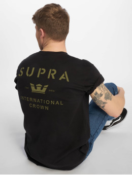 Supra T-Shirty Trademark czarny