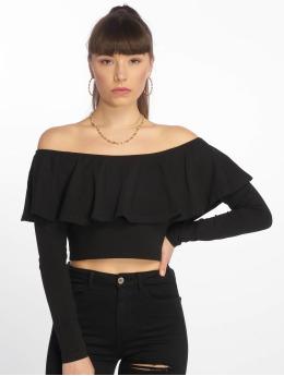 Tally Weijl Maglietta a manica lunga Basic Knitted nero