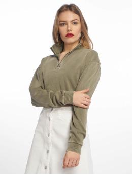 Tally Weijl Knit Sweatshirt Dusty Olive