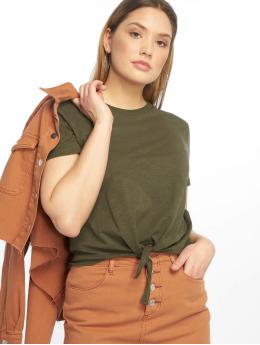 Tally Weijl T-shirt Basic Knitted oliva