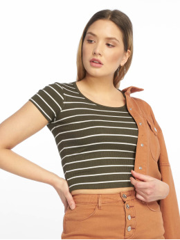 Tally Weijl Top Basic Knitted oliven