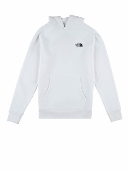 The North Face Hoody M Raglan Red Box weiß