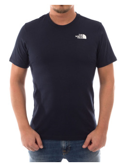 The North Face T-Shirt Red Box blau