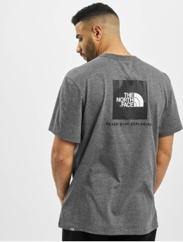 The North Face T-Shirt Face Red Box grau