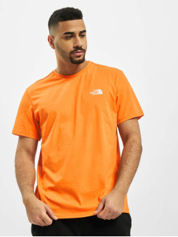 The North Face T-Shirty Simple Dome pomaranczowy
