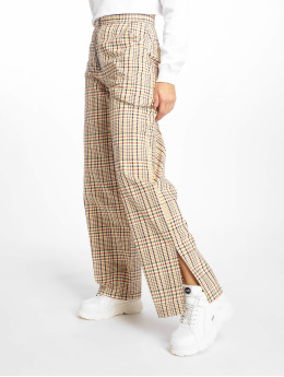 The Ragged Priest Chino Check Side Split geel