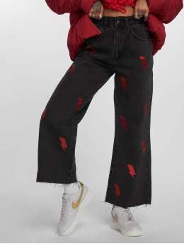 The Ragged Priest High waist jeans Flash  svart