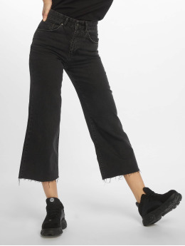 The Ragged Priest High Waisted Jeans Grip Cropped Skater zwart