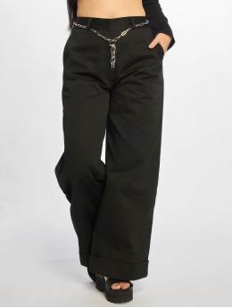 The Ragged Priest Látkové kalhoty Turn Up čern