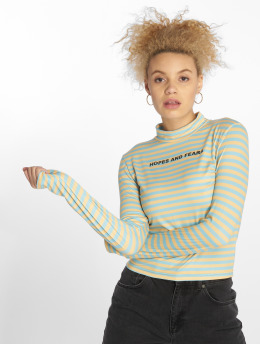 The Ragged Priest Frauen Longsleeve Troubled Cropped in gelb
