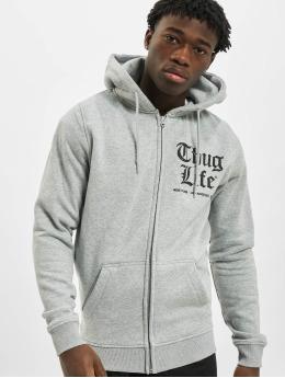 Thug Life Basic Zip Hoodie Chest Cities grey