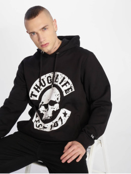 Thug Life Hoodies B.Distress čern