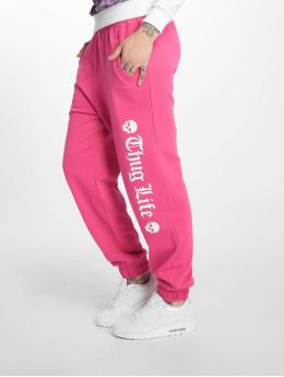 Thug Life Jogging kalhoty Grea růžový