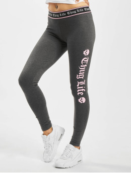 Thug Life Leggings/Treggings Dessa grå