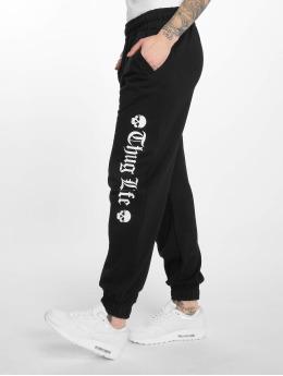 Thug Life Pantalón deportivo Grea negro