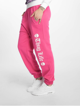 Thug Life Pantalone ginnico Grea rosa