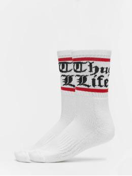 Thug Life Ponožky Bo double biela