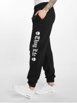 Thug Life Sweat Pant Grea black