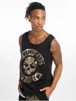 Thug Life Tank Tops Teris  čern