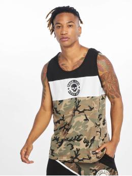 Thug Life Tank Tops Lion  camuflaje