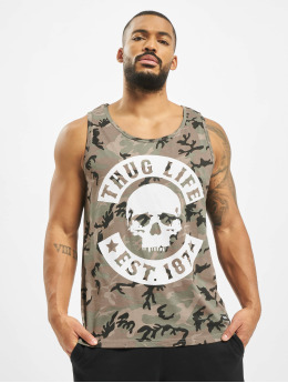 Thug Life Tank Tops Teris mimetico