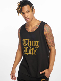 Thug Life Tank Tops Takt schwarz