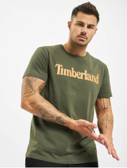 Timberland Camiseta Ss Kr Linear Regular verde