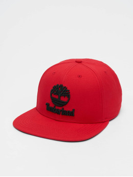 Timberland Casquette Snapback & Strapback Flat Brim Baseball Cap rouge