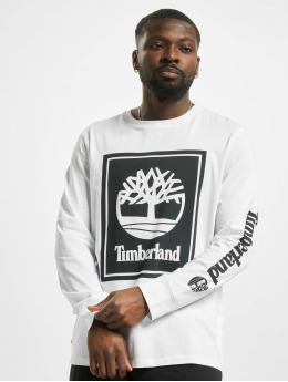 Timberland Longsleeves Stack Logo bialy