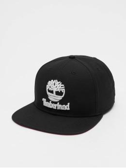 Timberland Snapback Cap Flat Brim schwarz