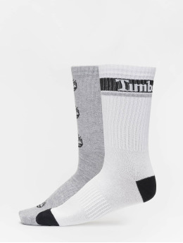 Timberland Socks Logo Pattern 2 Pack grey