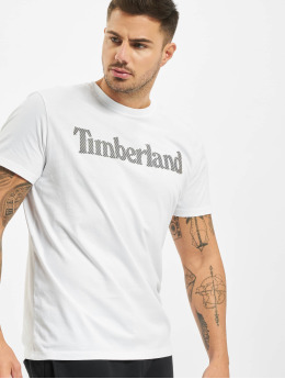 Timberland T-Shirt Ss Elevated Linear blanc