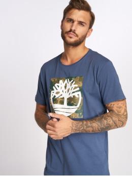 Timberland T-Shirt SSNL Pattern blau