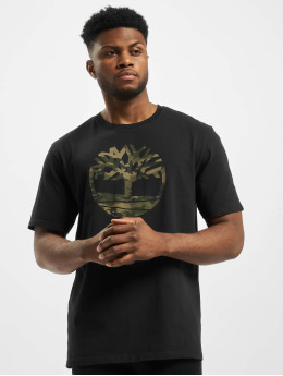 Timberland T-shirt K-R Camo Tree nero