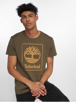 Timberland t-shirt SLS Seasonal Logo olijfgroen