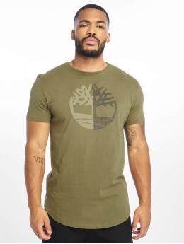 Timberland T-shirt Large Silcone Tree oliv