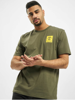 Timberland T-shirt SS Back Logo Camo verde