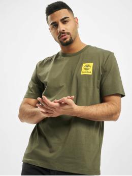 Timberland T-Shirt SS Back Logo Camo vert