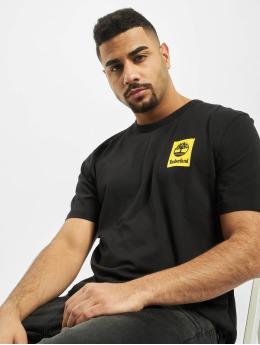 Timberland t-shirt SS Back Logo Camo zwart