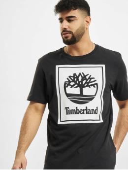 Timberland t-shirt Yc Stack Logo zwart