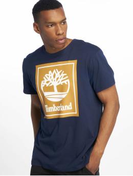 Timberland T-shirts YCC Stack Logo ECL blå