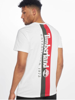 Timberland T-Shirty Back Graphic bialy