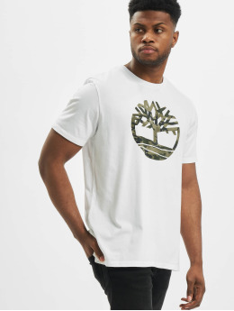 Timberland T-Shirty K-R Camo Tree bialy