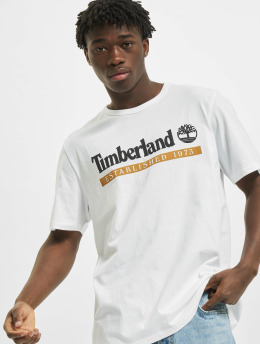 Timberland T-Shirty Ss Estab 197 bialy