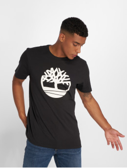 Timberland T-Shirty Brand Tree Regular czarny
